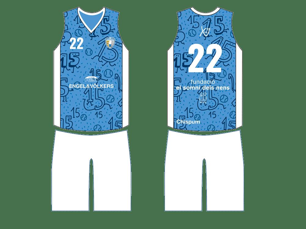 Equipació secció bàsquet CE Vila Olímpica