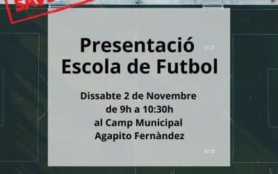 Presentació Escola de Futbol Temporada 2019-20